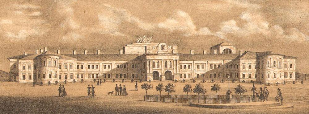 Palatul domnesc construit în 1806 de Alexandru Moruzi, Iaşi, 1806