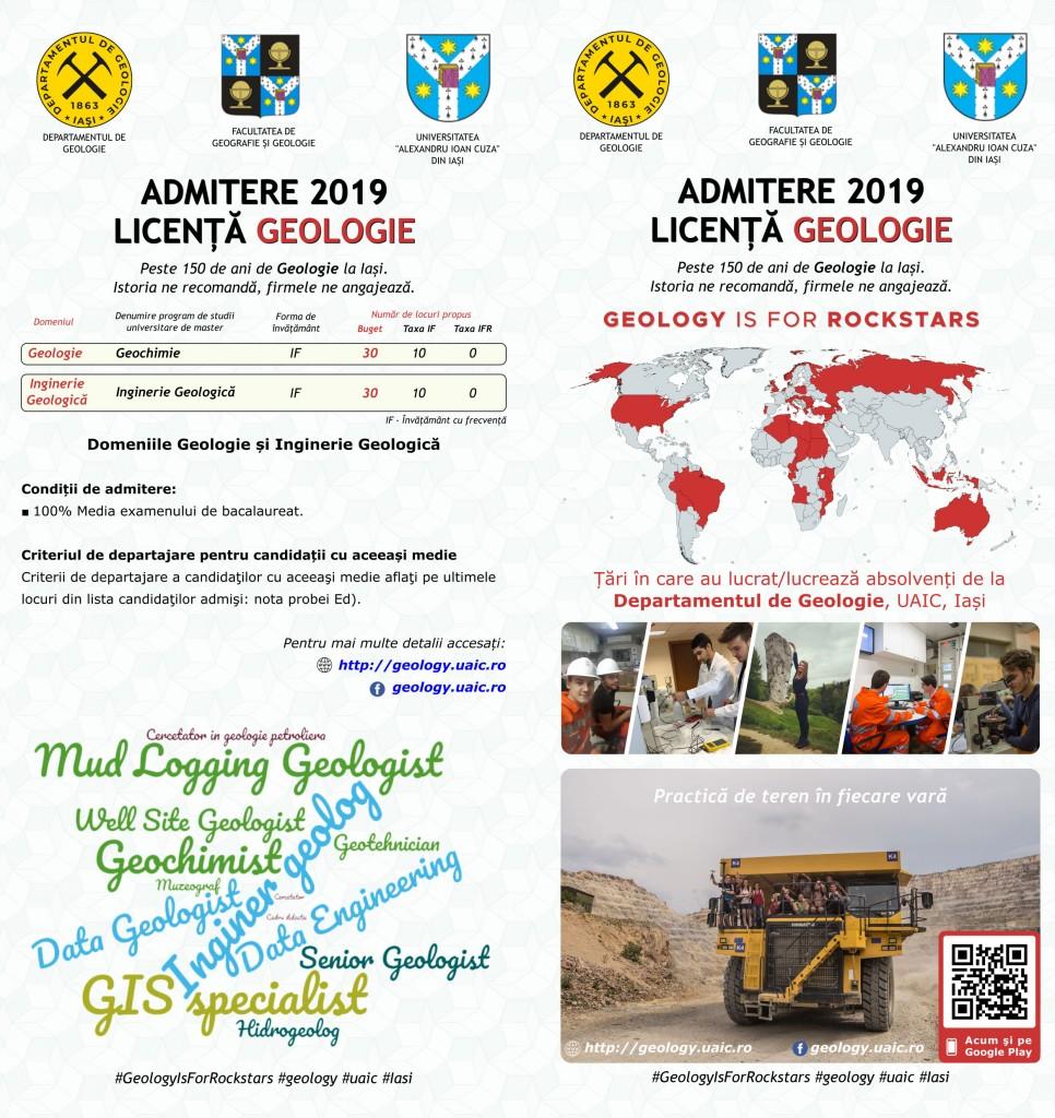Admitere Geologie 2019 - Licenţă