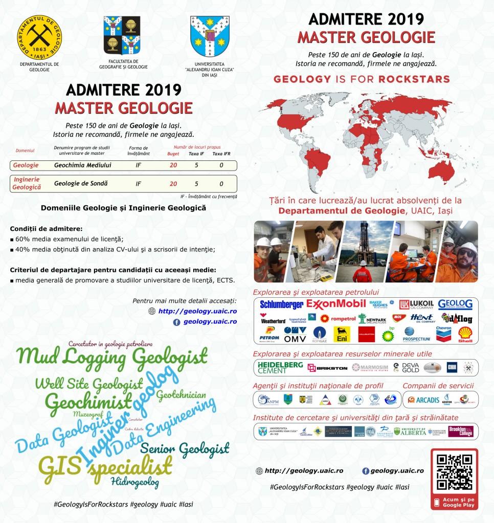 Admitere Geologie 2019 - Master