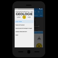 GeoUAIC - aplicaţia pentru mobil a Departamentului de Geologie